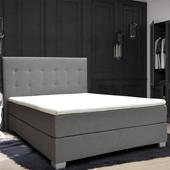 Łóżko kontynentalne 160 Paris z podwójnym materacem bonellowym zdjęcie 7