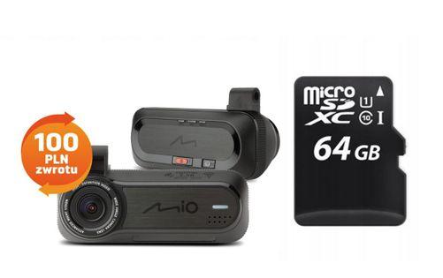 REJESTRATOR MIO J85 FULLHD WI-FI STARVIS + 64GB