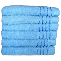 Komplet ręczników kąpielowych 50x100 cm 6szt. (wzór: gładki; kolor: niebieski)