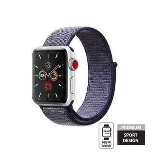 Crong Nylon Band - Pasek sportowy do Apple Watch 38/40 mm (Midnight Blue)