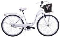 Rower miejski 28 damski Kozbike K25 1s biały