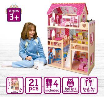 Wielki Domek dla lalek Rezydencja +4 laleczki gratis!