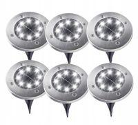 OGRODOWE LAMPKI SOLARNE GRUNTOWE ŚWIECĄCY DYSK 6