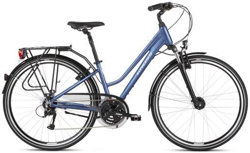 """Kross Trans 4.0 28 L 19"""" rower niebieski/biały połysk 12"""