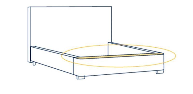 Łóżko Tapicerowane PORTO 160x200+ Stelaż zdjęcie 8