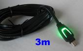 3m LED kabel micro USB ładowanie pad PS4 XBOX ONE zdjęcie 3
