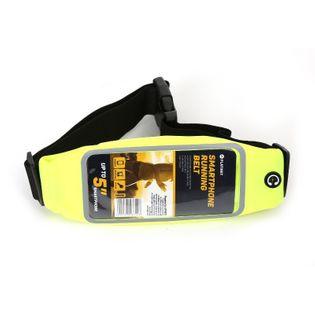Pas do biegania z oknem na smartfona ZIELONY