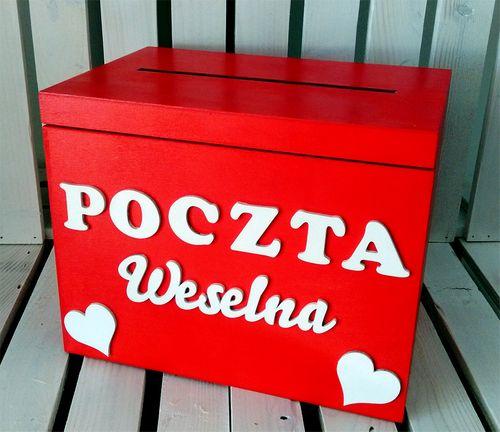 POCZTA WESELNA - SKRZYNKA NA KOPERTY GOŚCI WESELNY na Arena.pl