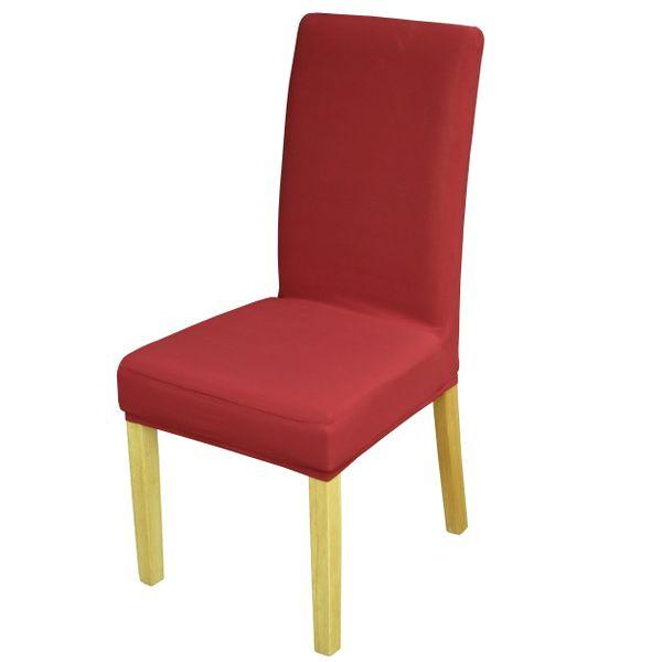 Elastyczny pokrowiec na krzesło spandex, kolor bordowy na Arena.pl