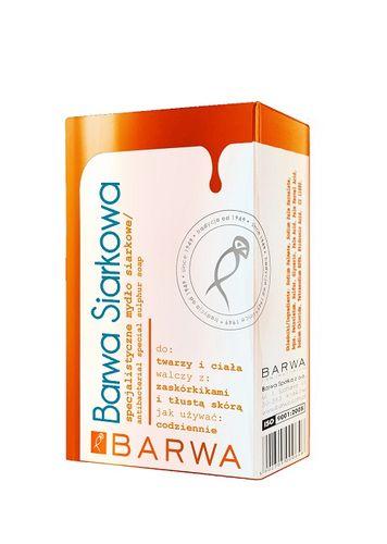 BARWA Siarkowa specjalistyczne mydło siarkowe 100g - Długi termin ważności! na Arena.pl