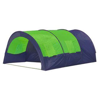 Namiot Turystyczny 6-Osobowy, Niebiesko-Zielony