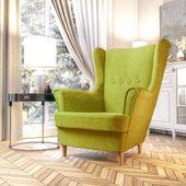 Fotel Skandynawski Uszak mocny materiał+sprężyny zdjęcie 8