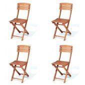 Krzesło ogrodowe składane z eukaliptusa Cayenne idealne na balkon 4szt