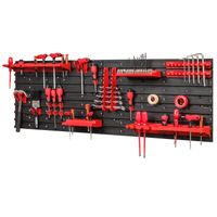 Tablica ścianka narzędziowa do garażu + 20 uchwytów, półki PRO-MIX48