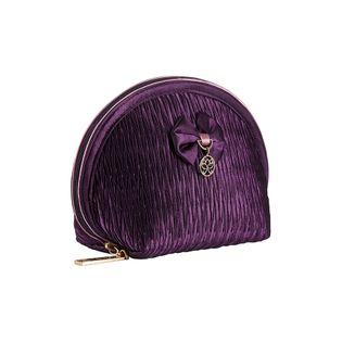 Kosmetyczka satynowa do torebki INEZ w kolorze fioletowym