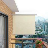 Wielofunkcyjna markiza boczna, balkonowa, 150 x 200 cm, kremowa GXP-676007
