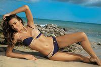 Kostium Kąpielowy Liliana Uniform-Light Skin M-259 Granatowo-Piaskowy (14) Rozmiar Xxl