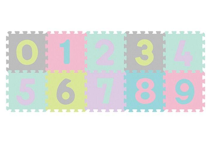 BabyOno Puzzle piankowe 10szt CYFRY pastelowe na Arena.pl