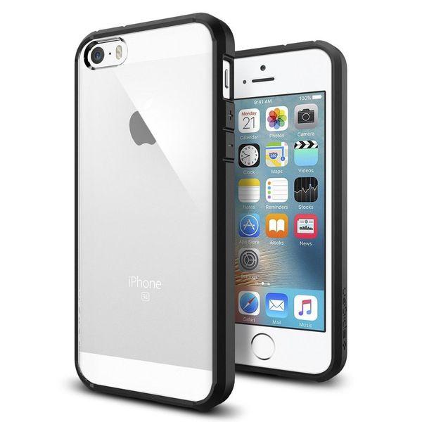 ETUI POKROWIEC CASE FUTERAŁ SPIGEN Ultra Hybrid do iPhone 5SSE black