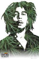 Bob Marley Liście Marihuany - plakat 61x91,5 cm