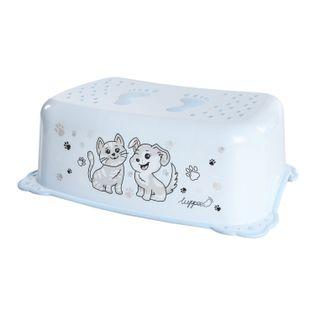 LUPPEE podnóżek podest antypoślizgowy pies i kot niebieski
