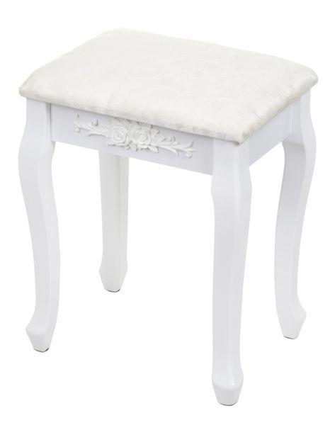 Toaletka kosmetyczna GIOSEDIO biała z lustrem + taboret,model DTW003 zdjęcie 2