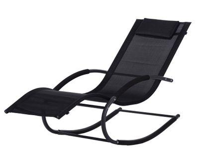 Leżak ogrodowy leżanka fotel bujany Goodhome