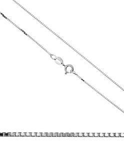 45cm łańcuszek srebrny kosteczka