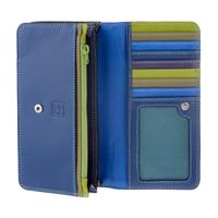 Skórzany portfel damski saszetka DuDu®, 534-1162 granatowo-czarny