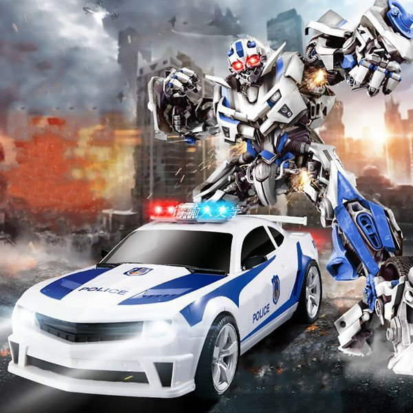 Transformers auto policja robot sterowany pilotem RC Y170 zdjęcie 8