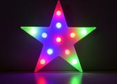 DUŻA GWIAZDKA LED RGB - 11 LED - NA BATERIE (9715)