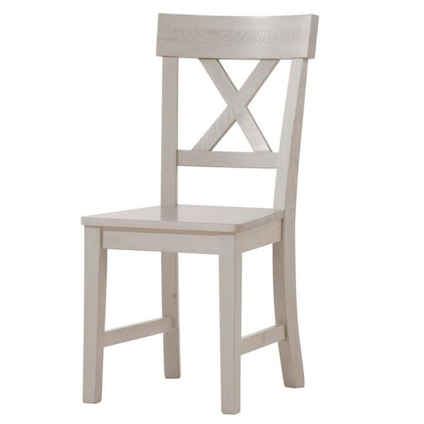 Białe romantyczne krzesło Monaco zdjęcie 1