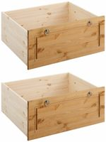 Dwie eleganckie szuflady pod łóżko z sosny