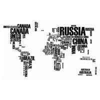 Naklejki na ścianę ścienne Mapa świata XXL Napisy WS-0034