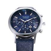 Zegarek męski, elegancki North, czarny, granatowy, wodoszczelny
