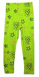 Legginsy Gwiazdy neon, bawełna roz.110