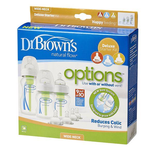 dr Browns butelka 3x , smoczek 7x Zestaw startowy options HIT prezent zdjęcie 1