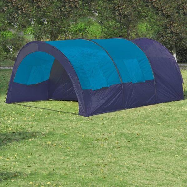 Namiot Turystyczny Dla 6 Osób, Granatowo-Niebieski zdjęcie 1