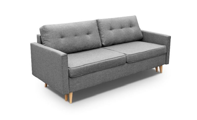 Kanapa Sofa BLUE rozkładana bonell Skandynawska zdjęcie 1