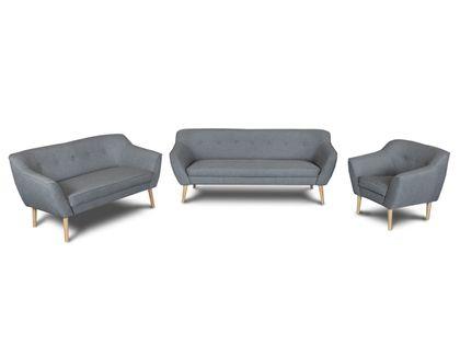 Zestaw wypoczynkowy do salonu SKANDI 3+2+1 komplet dwie sofy i fotel