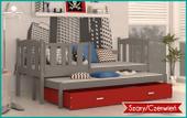 Łóżko wysuwane KUBUŚ P2 COLOR 180x80 szuflada + materace