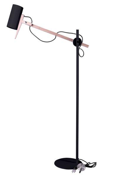 Lampa podłogowa Stork czarna D2 zdjęcie 1