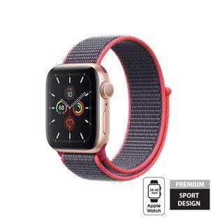 Crong Nylon Band - Pasek sportowy do Apple Watch 38/40 mm (Electric Pink)