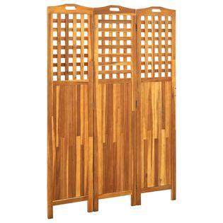 Parawan 3-panelowy 121x2x170cm lite drewno akacjowe VidaXL