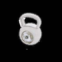 Fit Kolekcja - Zawieszka na łańcuszek srebrny KETTLEBELL SWAROVSKI Crystal 001