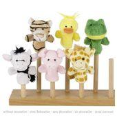 Pacynki na palec dla dzieci Zoo, pomoce Montessori