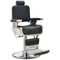 Fotel barberski, czarny, 68x69x116 cm, sztuczna skóra