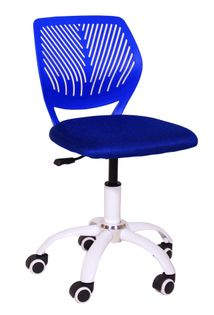 Krzesło obrotowe dla dziecka niebieskie kółka do paneli