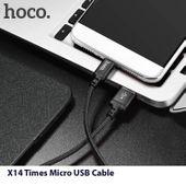 Wzmacniany kabel Micro USB  hoco x14 nylonowy oplot 1m zdjęcie 6