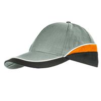 czapka z daszkiem CBI szara